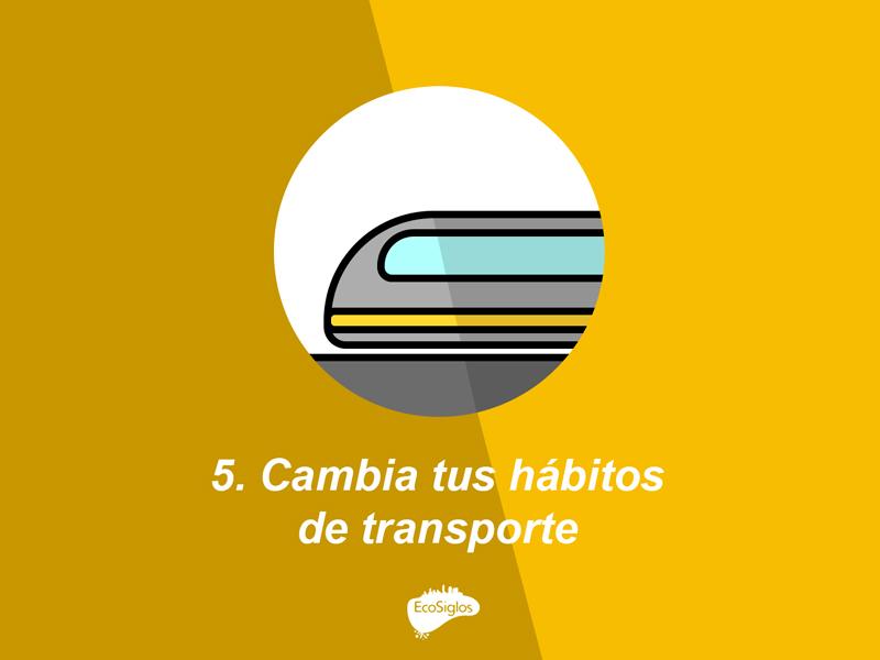 cambia tus habitos de transporte