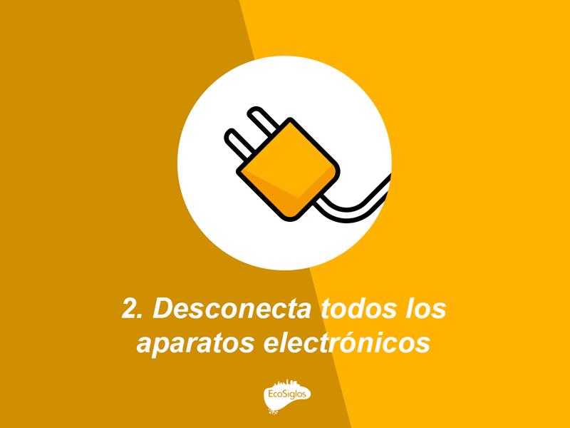 desconecta los aparatos electricos