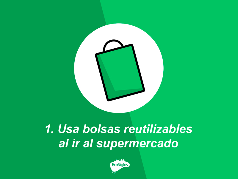 utiliza bolsas ecologicas