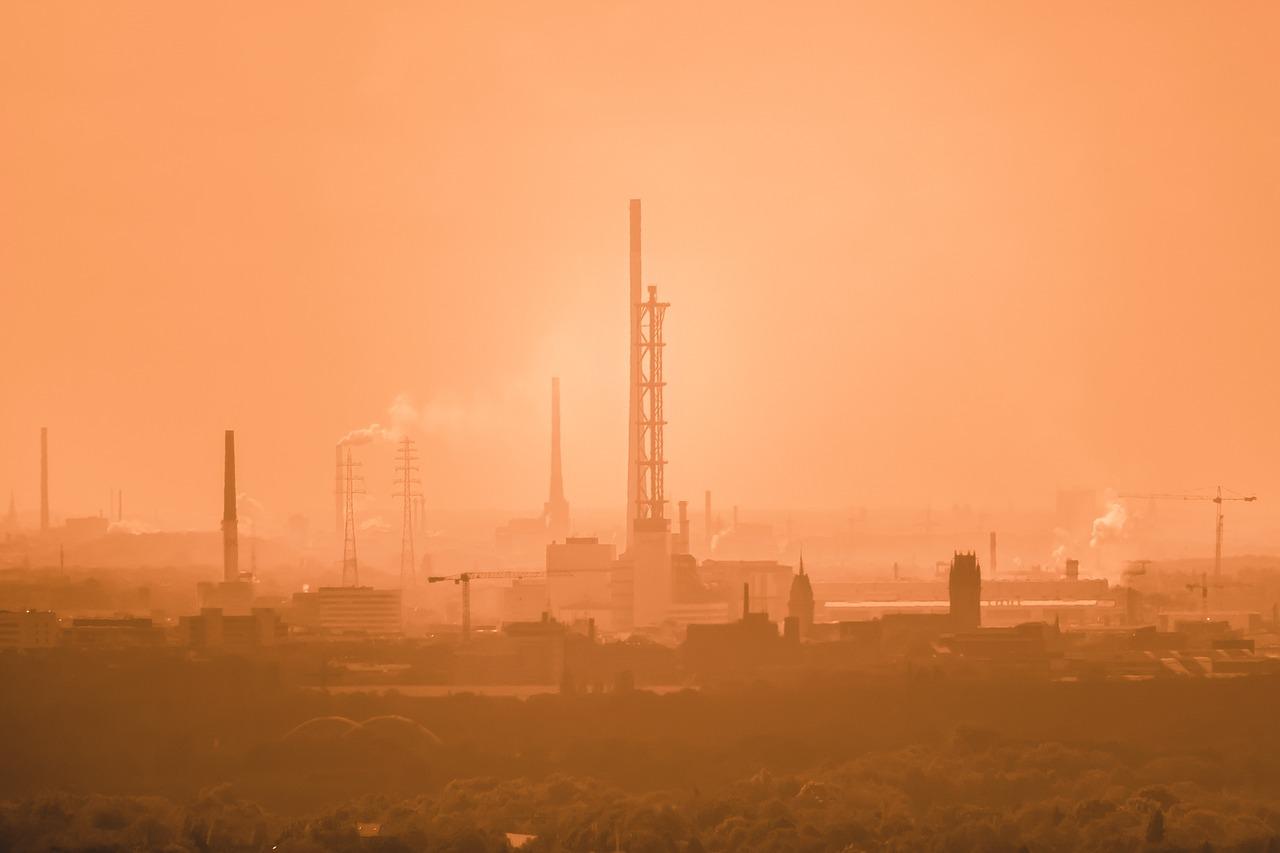 contaminacion del aire causada por plantas de carbon