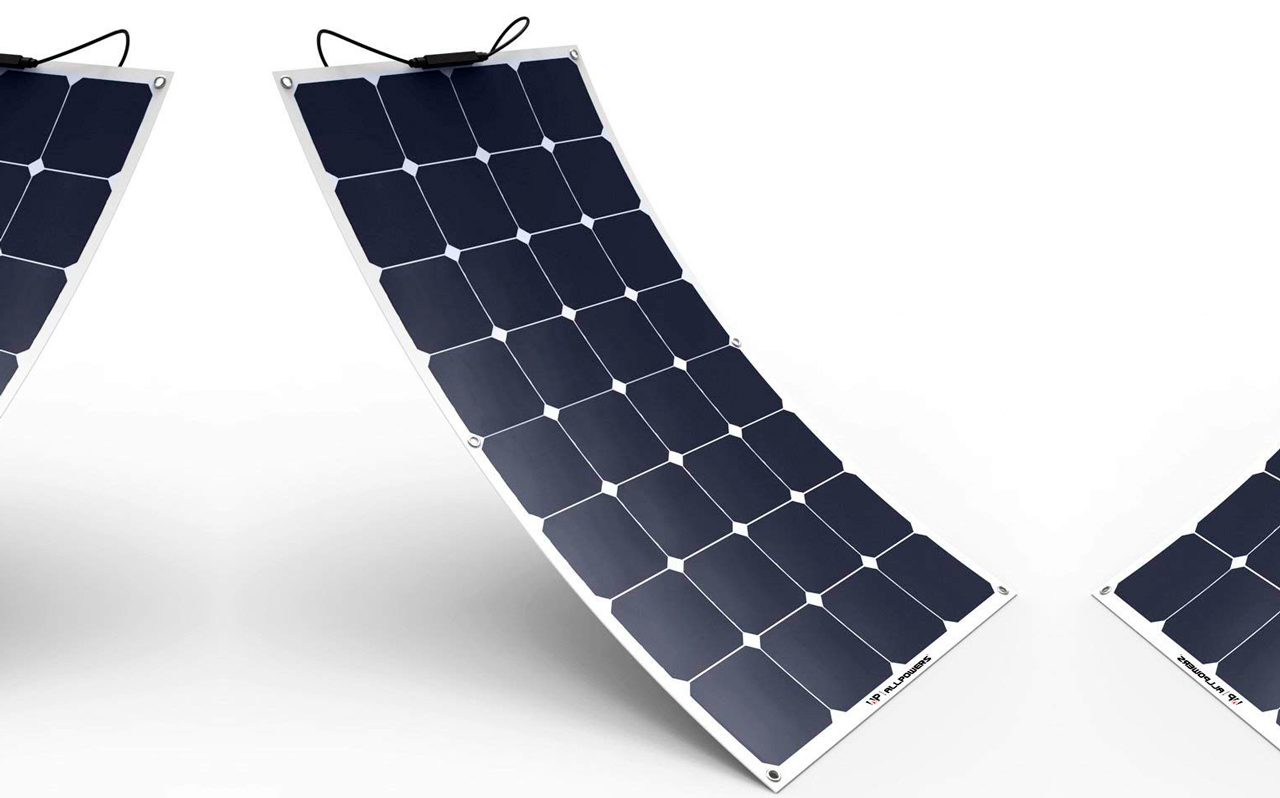 panel solar curvo plegable